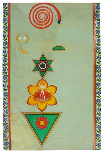 Panel from 19th century scroll, Rajasthan